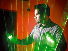 It's a laser harp. Forget for a second that I can't play the harp. Also forget that I barely understand how to do this project. Just imagine how cool it would be to play. :)