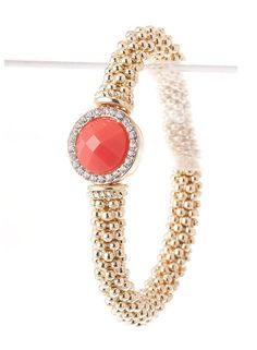 Coral Bracelet – Modeets  good for stacking with other bracelets