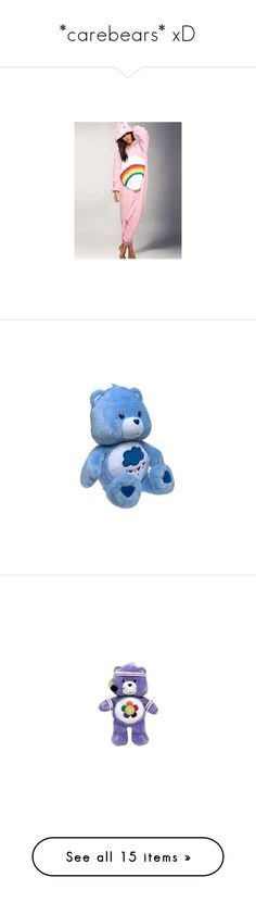 """""""*carebears* xD"""" by leann-murrell ❤ liked on Polyvore featuring onesie, toys, filler, stuffed animals, care bears, tops, plushies, baby things, bags and backpacks"""