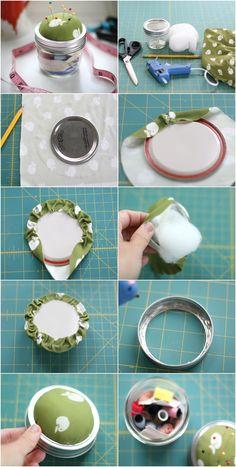 DIY Mason Jar Sewing Kit