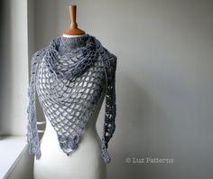 Modelos em croché, Summer Evening padrão xale de crochê (146)