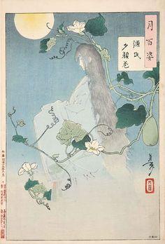 『破窓月』(『月百姿』シリーズ、作・月岡芳年)
