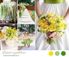 yellow and green wedding inspiration
