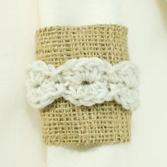 crochet napkin ring pattern.  Several perfect patterns for great headbands.