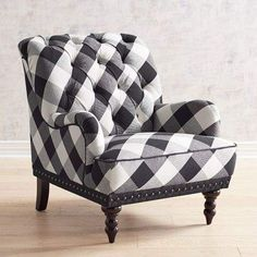 Pier 1 Imports Chas Black Buffalo Check Chair