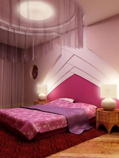 25 creative pink bedroom design ideas - Bedroom Ceiling Color Ideas