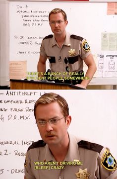 i think this every day at work -- reno 911