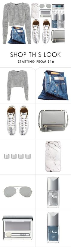 """""""Untitled #3498"""" by monmondefou ❤ liked on Polyvore featuring rag & bone, J.Crew, MM6 Maison Margiela, Givenchy, Maison Margiela, Acne Studios, Christian Dior, Clinique, women's clothing and women's fashion"""