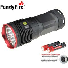 FandyFire XM-L T6 7-LED 6000lm High Power Flashlight - Red (4 x 18650 Battery, 1 x 18650 Charger). Find the cool gadgets at a incredibly low price with worldwide free shipping here. FandyFire XM-L T6 7-LED 6000lm Flashlight w/ Battery, Charger - Red, 18650 Flashlights, . Tags: #Lights #Lighting #Flashlights #LED #Flashlights #18650 #Flashlights