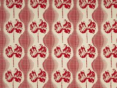 Geranium Weave - Hibiscus on Natural