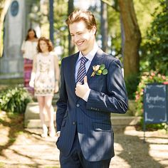Whether he's an honored guest, a key player in the bridal party or even the groom himself, your guy will exude one-of-a-kind charm in your #summer #wedding with a dapper suit accented by fun cuff links and a colorful tie #zulilyfinds