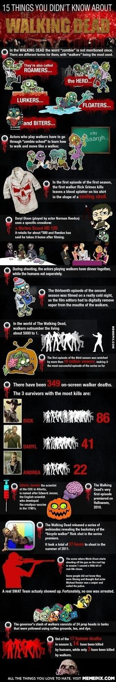 """15 Awesome Things You Didn't Know About """"The Walking Dead"""""""