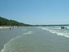 The Outlet and Dunes Beach at Sandbanks Provincial Park in Ontario have sandy lake bottoms, massive dunes and wide stretches of beach. Prince Edward County Ontario, Ontario Beaches, Outlet, Canada Travel, Vacation Destinations, Places Ive Been, Scenery, Explore, Park
