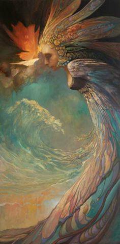 Yemaya: is the Goddess of the living Ocean, considered the mother of all.