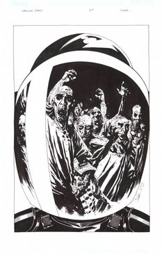 The Walking Dead #27 Cover by Charlie Adlard