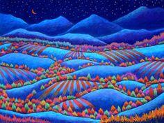 """""""Moonlight in Velvety Blue"""" - by Daryl V. Storrs"""