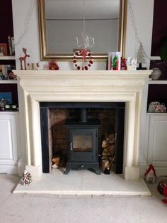 Natural Stone Fireplace Surround a franco belge monaco with a bath stone fireplace surround
