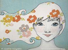 Emilie - Original illustrasjon