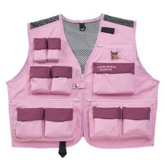 e602acfeaf Caddis Waders Women's Deluxe Ultra Lite Vest Attractive Pink and Burgundy  23 Handy Storage Pockets Full Mesh Back