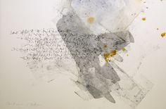 Calligraphie de Julien Chazal Poème de Guillaume Apollinaire - Clair de Lune…