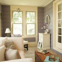 Love the idea of exposing the original siding in our enclosed porch