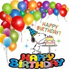 Happy Birthday Snoopy Images, Happy Birthday Emoji, Snoopy Birthday, Birthday Cartoon, Birthday Wishes And Images, Happy Birthday Celebration, Birthday Wishes For Friend, Happy Birthday Messages, Happy Birthday Greetings