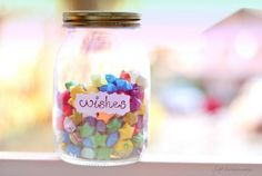 Make a jar of lucky paper stars