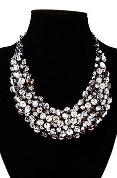 Bib necklace statment necklace bubble necklace holiday by only gifts, $29.00