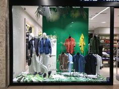 Pierre Cardin/ casual menswear window display design