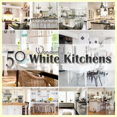 50 Plus White Kitchens