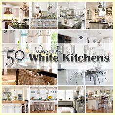50 Plus White Kitchens