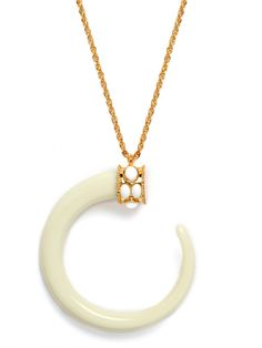 Ivory Moon Pendant. I first saw this beauty on my favourite girls neck. Nokuzola.