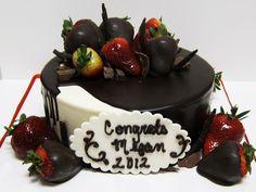 Another yummy cake perfect for graduation season!  #graduation #2012 #chocolate #cakes #food