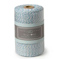 Burgon and Ball - Sophie Conran - Striped Twine Blue - 200m Traditional striped twine blue by Sophie Conran for Burgon and Ball ideal for tying up flowers and herbs, wrapping up homemade cakes and gifts, securing jam jar covers in place, present wrapping and much more...