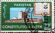 Pakistan 1973 Constitution Week SG 345 Fine Used  SG  345 Scott 340