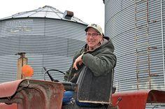 David Petersen at his farm