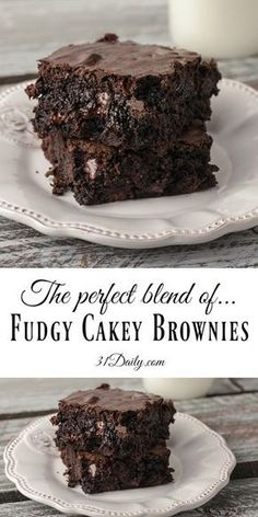 Fudgy Cakey Family Size Decadent Brownies | 31Daily.com