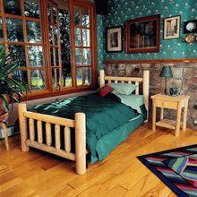 Rustic Natural Cedar Log Bed - our most economical genuine cedar log bed.