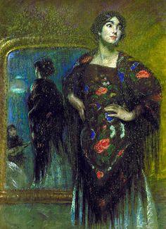 The_Spanish_Shawl_1908.jpg    alice-pike-barney1857-1931-american. (373×514)