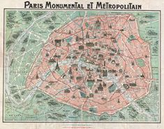 old maps paris - La carte Robelin