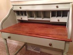 Refinished roll top desk by BizProductions on Etsy