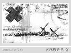 Makeup Mark Strokes - Download  Photoshop brush https://www.123freebrushes.com/makeup-mark-strokes/ , Published in #GrungeSplatter. More Free Grunge & Splatter Brushes, http://www.123freebrushes.com/free-brushes/grunge-splatter/ | #123freebrushes