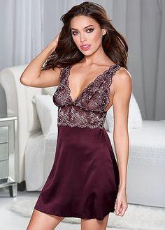 Lace satin chemise by VENUS