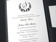 Elegant Wedding Invitation Black White Classic by essentialimages, $5.15