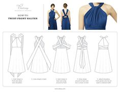 Same Twist Dress: Wrap Dress for Bridesmaids. This page shows how to change the look into any of the 6 styles..