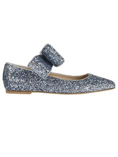 POLLY PLUME BONNIE BOW SPARKLING BALLERINAS. #pollyplume #shoes #