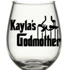 God Mother Wine Glass, God Mother Gift, Personalized God Mother Wine Glass by SiplySophisticated on Etsy