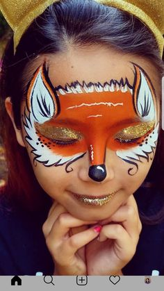 Rice juice mask for skin spots – Cosmetic Ideas Fox Makeup, Kids Makeup, Makeup Art, Face Painting For Boys, Body Painting, Maquillage Halloween, Halloween Makeup, Face Paint For Halloween, Halloween Halloween