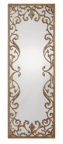 """Apricena Rectangular Gold Wall Mirror 24"""" x 68"""" , Uttermost, 12814, Discount Prices and Free Shipping."""