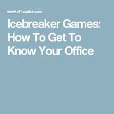 ice breakers that aren t awkward for all that networking you ll be